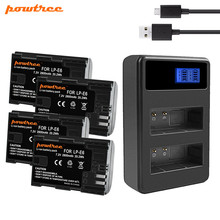 Powtree For Canon LP-E6 Battery+USB Dual Charger Replacement LPE6 LP E6 5D Mark II III EOS 6D 7D Rechargeable Camera batter