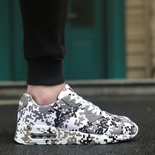 Unisex autumn and winter camouflage sports casual shoes air cushion running large size mens womens sneakers male