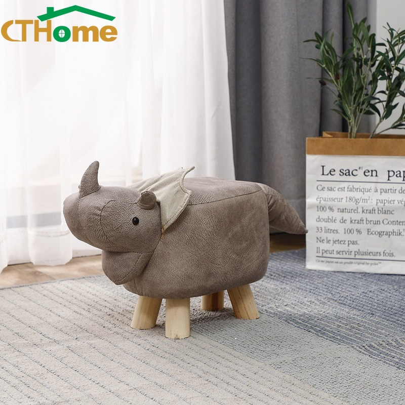Creative Animal Solid Wood Foot Stool Storage Dinosaur Feet Change Shoes Storage Stool Bench Shoes Bench Sofa Children Stool