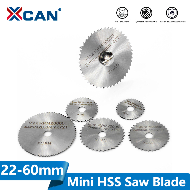 XCAN 3.175mm Shank HSS Rotary Tools Circular Saw Blades Cutting Discs With Mandrel Cut Off Mini Saw Blade