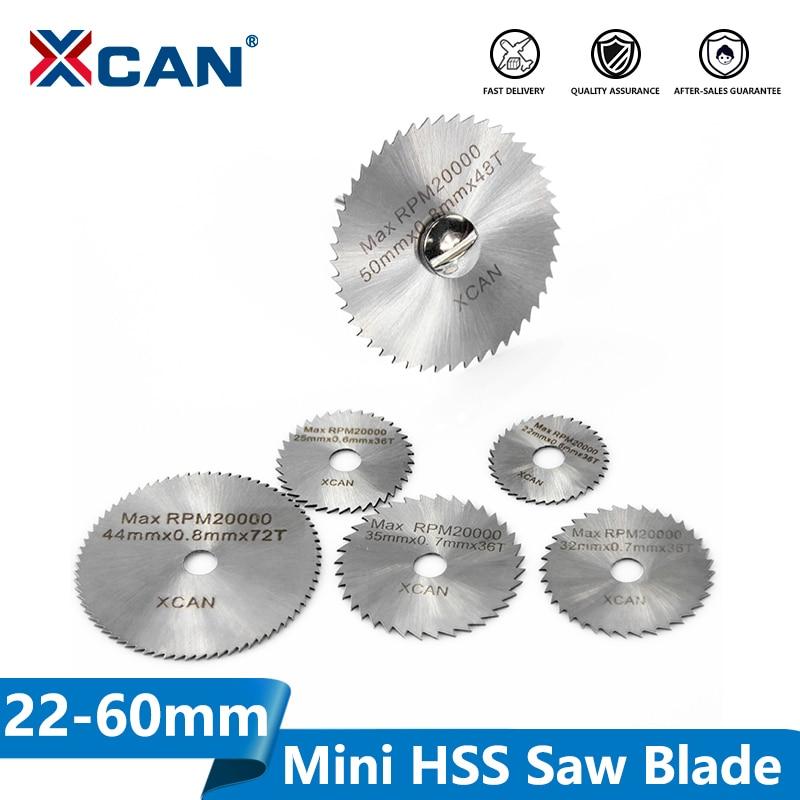 XCAN 3.175mm Shank HSS Rotary Tools Circular Saw Blades Cutting Discs With Mandrel Cut Off Mini Saw Blade