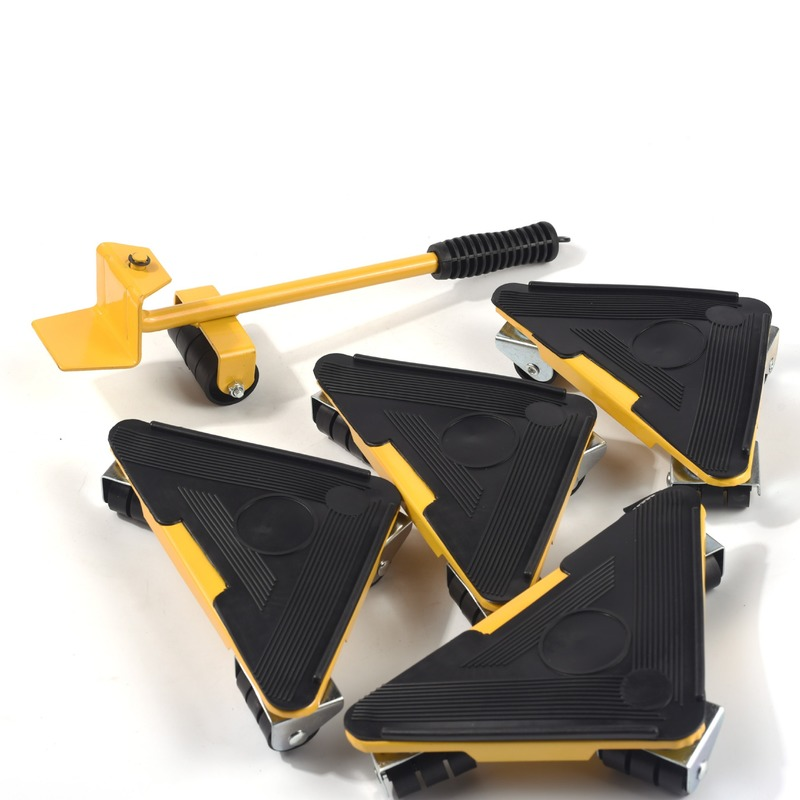 Tools : 5PC Quality Portable Triangle iron mover Furniture Lifter Moves Wheels Mover Sliders Kit 880 lbs Tool