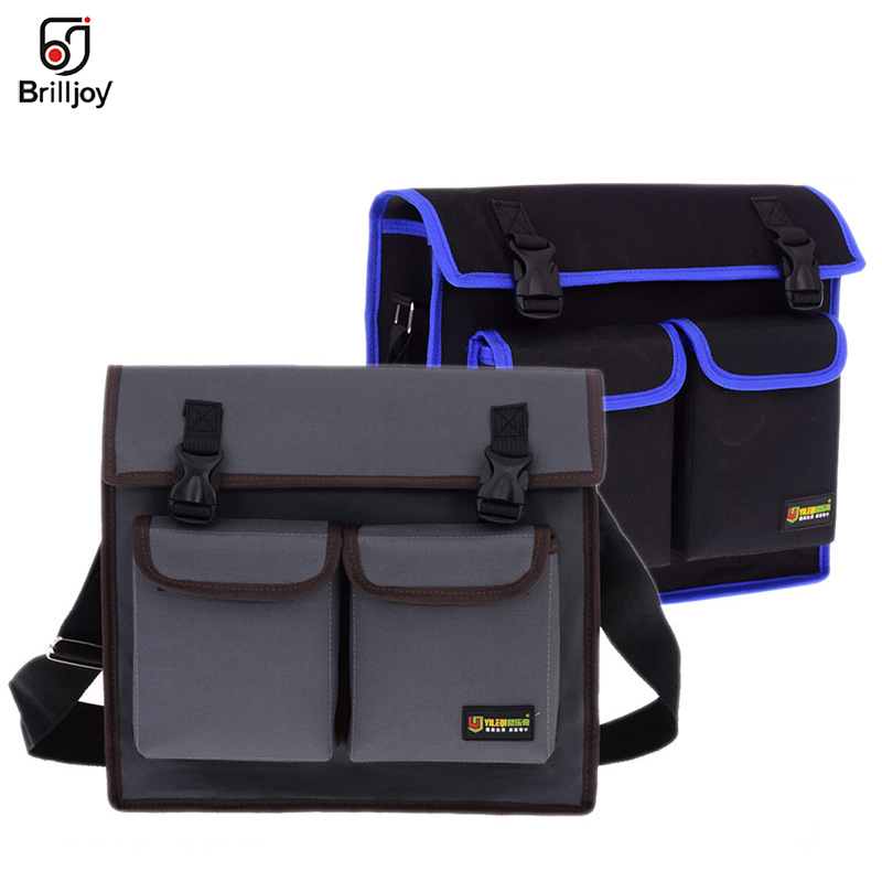 Multifunctional Messenger Bag Single Shoulder Bag Hardware Electrician Toolkit Tool Bag Waterproof Wear-Resistant Oxford Cloth