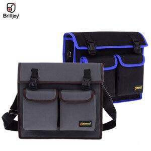Image 1 - Wielofunkcyjna torba pojedyncza torba na ramię sprzęt elektryk Toolkit torba na narzędzia wodoodporna odporna na zużycie tkanina Oxford