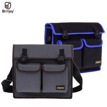 Çok fonksiyonlu askılı çanta basit omuz çantası donanım elektrikçi Toolkit alet çantası su geçirmez aşınmaya dayanıklı Oxford kumaş