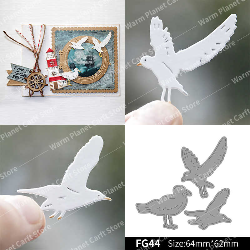 Seagulls Making Scrapbook  Metal Cutting Dies Stencil Frame Embossing Template DIY Greeting Card Handmade 2020