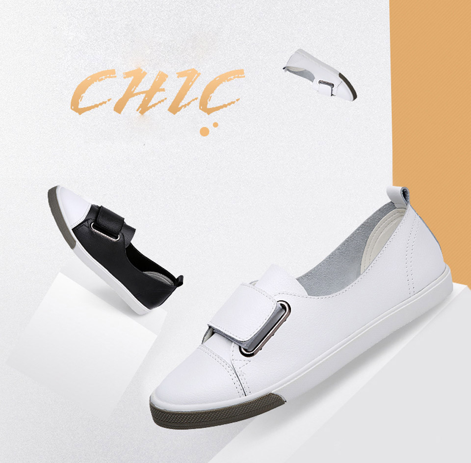 H68df041da509419d9ccb334e593b1ebdQ - Ngouxm Fashion Women Loafers Flats Woman Lady female Slip On White Genuine Leather Moccasins Casual Shoes zapatos de mujer