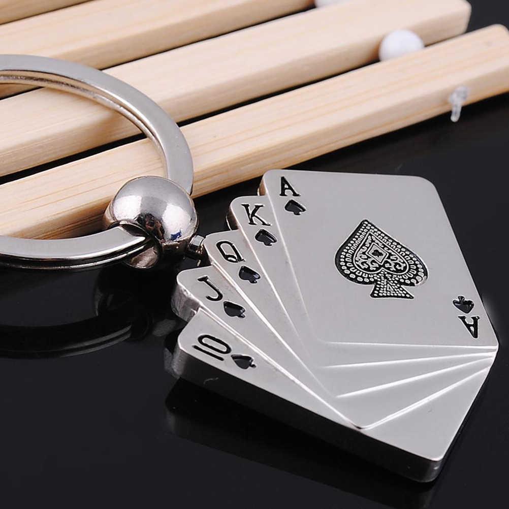 ポーカーカジノチェーン色男性女性ギフトデザインクール高級メタルキーホルダー車のキーチェーンキーリング