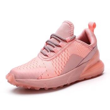 Женские дышащие кроссовки на подушке, Нескользящие, амортизирующие, для бега, спортивная обувь размера плюс, женские кроссовки