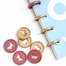 Notebook Button-Mushroom-Hole Plastic Loose-Leaf 28mm 1 100PCS Butterfly-Button Matte