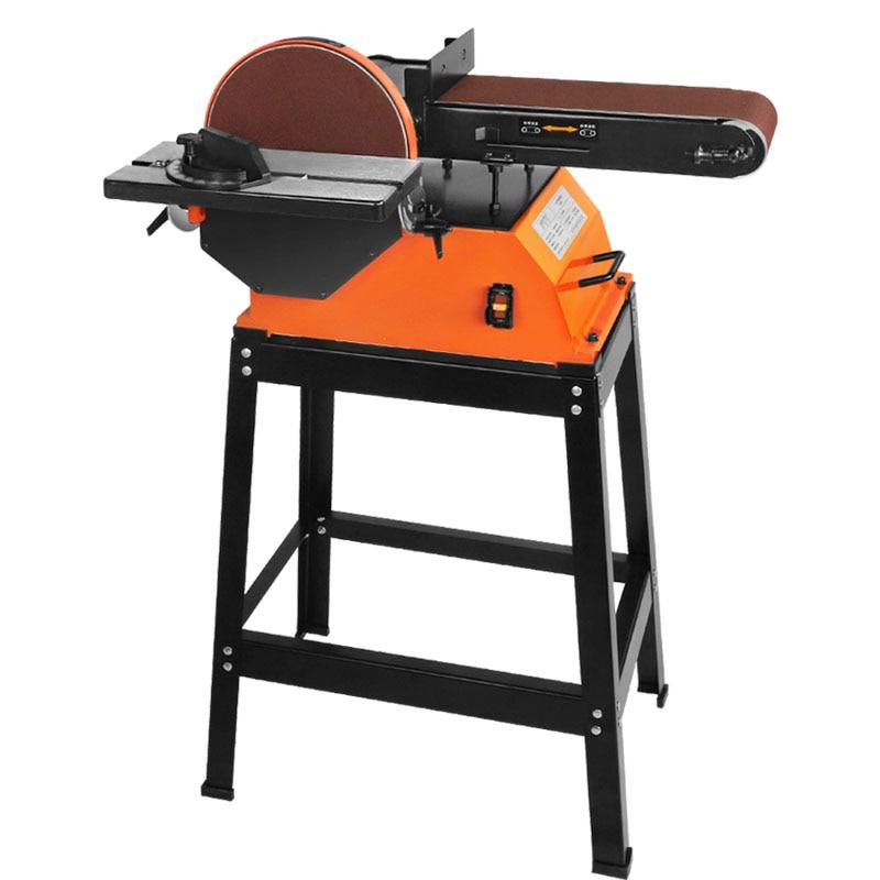 BD6100 Belt Machine Polishing Machine Electric Grinding Machine Sandpaper Sand Belt Polishing Machine Woodworking Angle Grinder Sanders     - title=