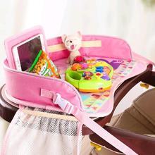Мультяшный детский подлокотник для сидения автомобиля, Детская игрушечная еда, держатель для воды, детский Настольный органайзер, Детская портативная многофункциональная пластина