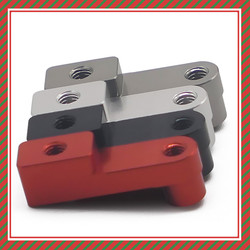 4 шт., анодированная Серебряная пластина для крепления подвески