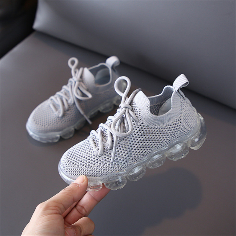 DIMI 2020 New Children Shoes Breathable Knitting Soft Comfortable Transparent Sole Non-slip Kids Sneakers For Boy Girl