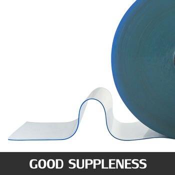 Широко используется в ПВХ полосе шторы устойчивый к царапинам Прозрачный легко резать высокая температура 200 мм x 2 мм x 45 м