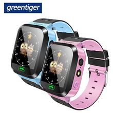 Greentiger Q02 Children Smart Watch Camera Lighting Touch Screen SOS Call  LBS Tracking Location Finder Kids Baby Smart Watch