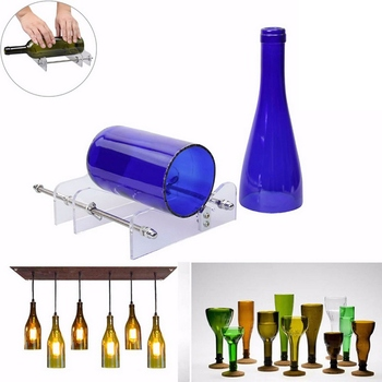 Glass Cutter Professional for Bottle Cutting Glass Bottle-Cutter DIY Cut Tool Machine Wine Beer Glass Craft Recycle Cutter Tool pair of fashionable beer bottle and wine glass shape alloy cufflinks for men