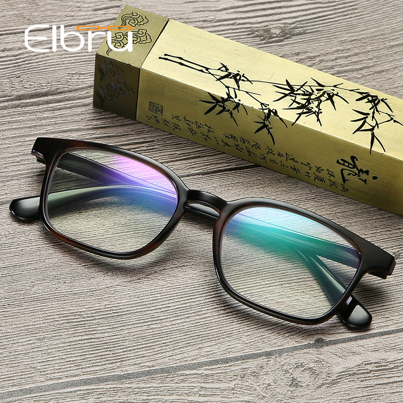 Elbru Unisex Square Reading Glasses Men Women Anti-radiation Eye Protection Computer Glasses With Diopter +1.0 1.5 2.0 2.5 3 3.5