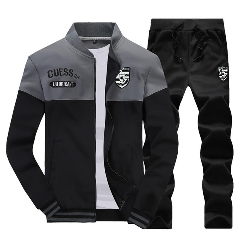 Sweatshirt Tracksuit Clothing Sporting-Suit Men-Sets Zipper Male Fashion New Slim