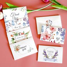 6 zestawów kwiatowy karta z podziękowaniami wesele zaproszenie powitanie koperty karty DIY puste wnętrze składane papiernicze kartka z wiadomością tanie tanio icraft CN (pochodzenie) 11 3x8cm E1-1 Portfel koperta Zwykłym papierze Prezent koperty Thank you Card Wedding Party Invitation Greeting Envelopes Cards