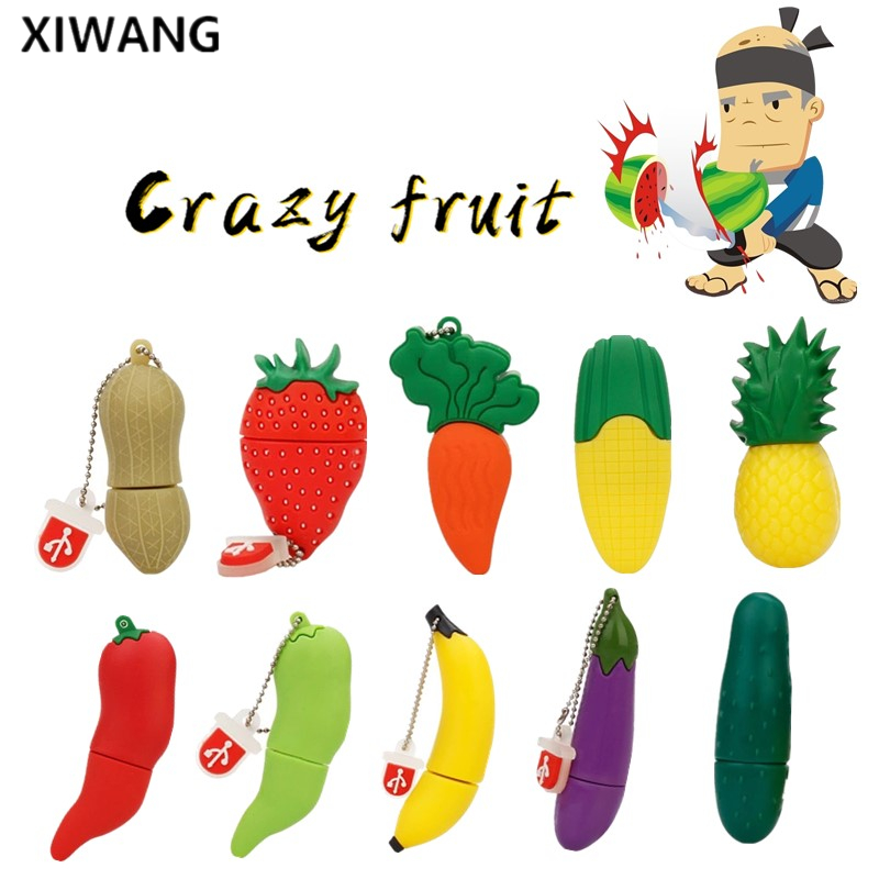 Funny Usb Flash Drive 64gb Fruit Series Memory Stick 4GB 8GB Pendrive 16GB Pen Drive 32GB 64GB Vegetable Hard Disk Memory Stick