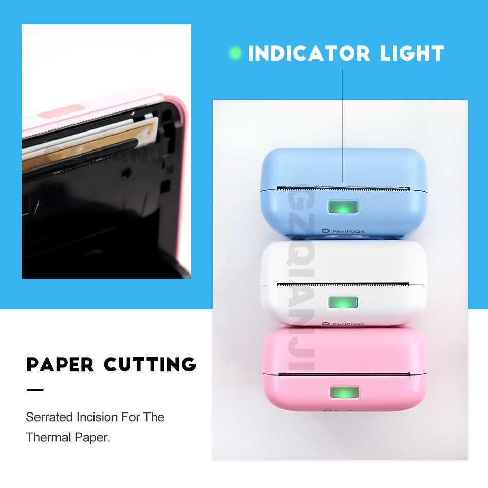 Impresora térmica Portátil con Bluetooth, Mini impresora de fotos para teléfonos móviles Android iOS, 58mm, máquina de bolsillo, regalo de Navidad