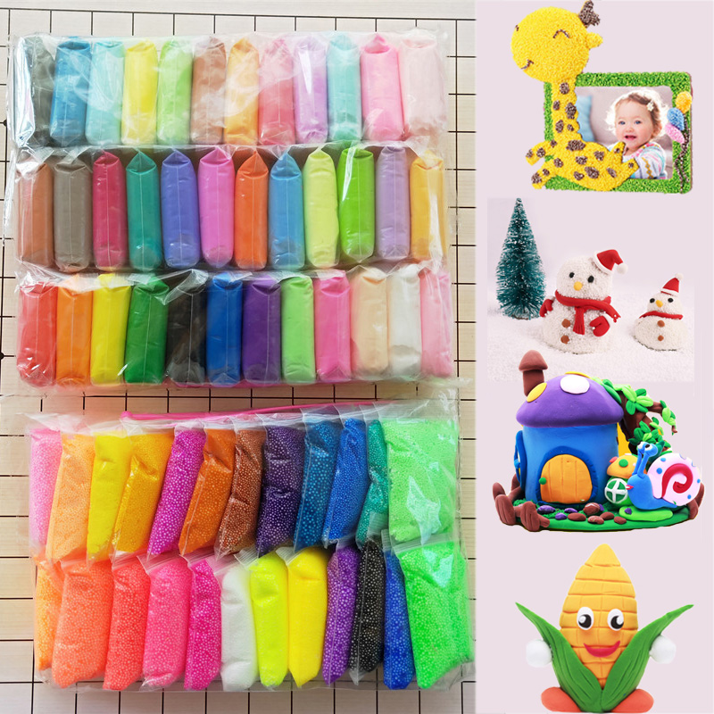 Colorful Light Soft Clay Child DIY Slime Charms Air Dry Polymer Plasticine Safe Slime Supplies Light Clay Kids Toy Gift Play Doh