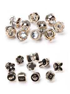 Coat Button-Brooch-Set Clothes-Accessories Prevent-Exposure-Brooches Rhinestones-Pin