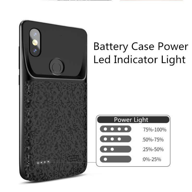 Cho Xiaomi Mix 2 Ốp Lưng Kiêm Pin Sạc Dự Phòng Xiaomi Mi 8 9 SE Pha 2 2S 6 6XBackup power Bank 5500Mah Sạc Bên Ngoài Bao Da Ốp Lưng
