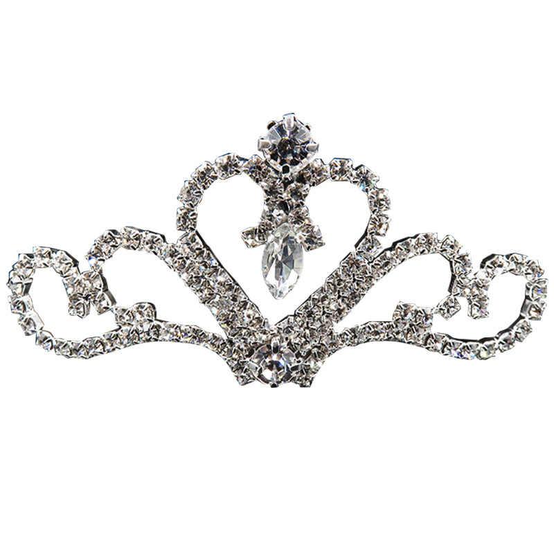 Tiaras de cristal de princesa y Diadema con coronas chico chicas amor nupcial Prom banquete corona accesorios para fiesta de boda joyería para el cabello