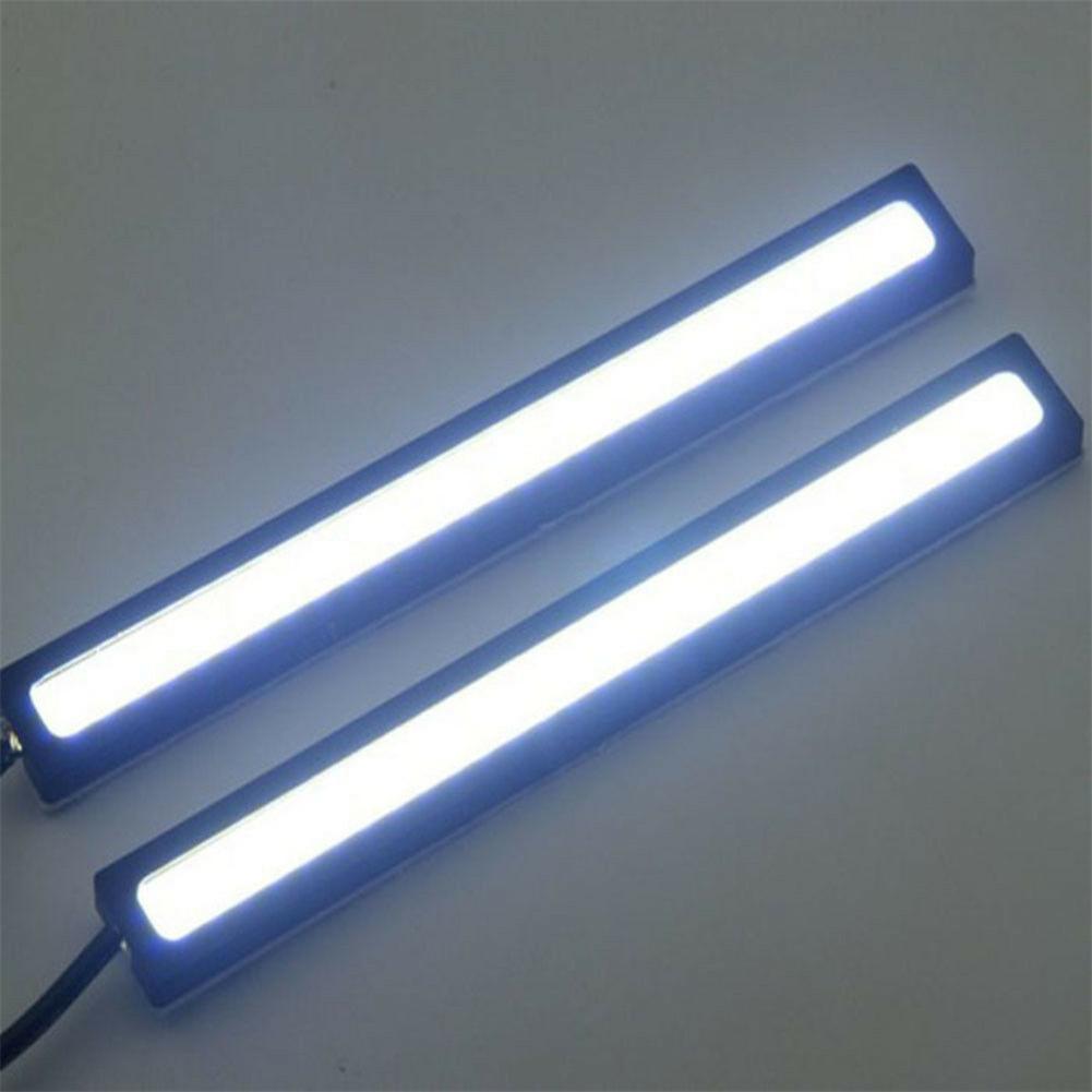 6Pcs 12V Waterproof White DRL COB LED Strip Light Bar Caravan Boat Car Lamps