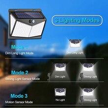 208LEDs Solar Light Motion sensor wireless wall light waterproof IP65  solar safety light Solar Garden Lights