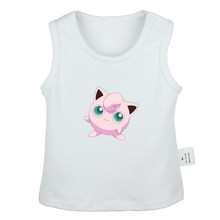 Cartoon Pokemon Togepi Jigglypuff Chansey Ditto Gengar Lickitung Newborn Baby Tank Tops Toddler Vest Sleeveless Infant Clothes(China)