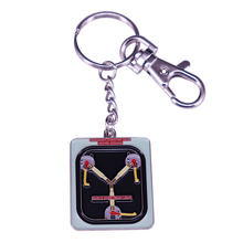 BTTF Flux Capacitor Back Future Time Travel key rings Doc Brown Marty Geek Keychain