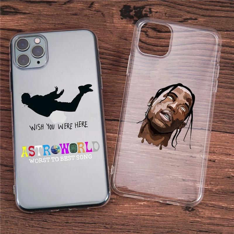 GYKZ Travis Scott Astroworld Clear Phone Case For iPhone X SE20 12 11 Pro XS MAX 7 XR 6s 8 Plus Fashion Soft Cover Letter Fundas
