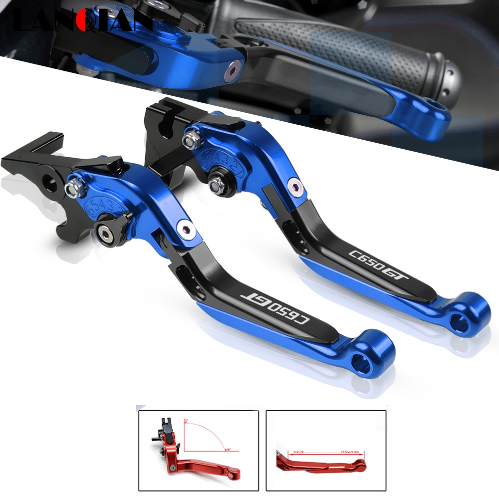 Motorcycle Extendable Foldable Handle Brake Clutch Levers For <font><b>BMW</b></font> <font><b>c650</b></font> <font><b>GT</b></font> <font><b>gt</b></font> C650GT <font><b>C650</b></font> G T 2011-2019 2012 2013 2014 2015 2016 image