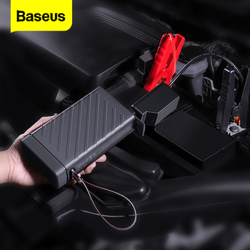 Baseus Car Jump Starter 12v 16000mAh Car Starting Device Auto Battery Booster Portable Power Bank 220v AC Output Power Station baseus 8000a car jump starter battery power bank high capacity starting device booster auto vehicle emergency battery booster