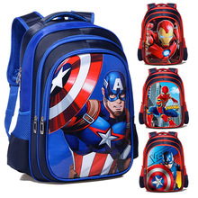 Hot High Quality Captain America Children School Bags Boy Spiderman School Backpack Suitable For 6-12 Years Old Kids Bag Ransel цена 2017