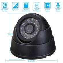 Камера видеонаблюдения Купольная с функцией ночного видения, 32 ГБ, TF карта
