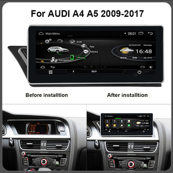 for Audi A4 A5 2009-2017 auto radio multimedia player car GPS navigator stereo tape recorder android system 10.25 inch FM image