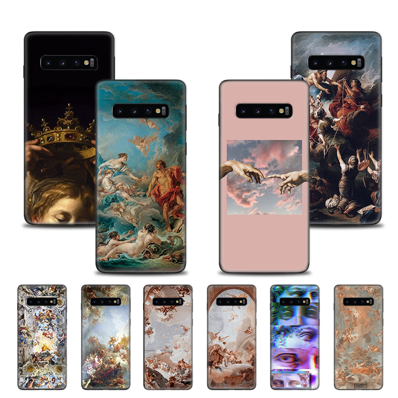 <font><b>Case</b></font> Cover for <font><b>Samsung</b></font> Galaxy S10 S10e S20 Ultra S9 S8 Plus <font><b>S7</b></font> Edge Note 8 9 10 Plus 5G <font><b>Phone</b></font> Shell Renaissance angels Color image