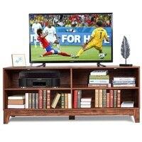 58 Modern Entertainment Media Center Wood TV Stand MDF Home Living Room 4 Storage Shelves Non slip Mat Tv Stand Table HW60356