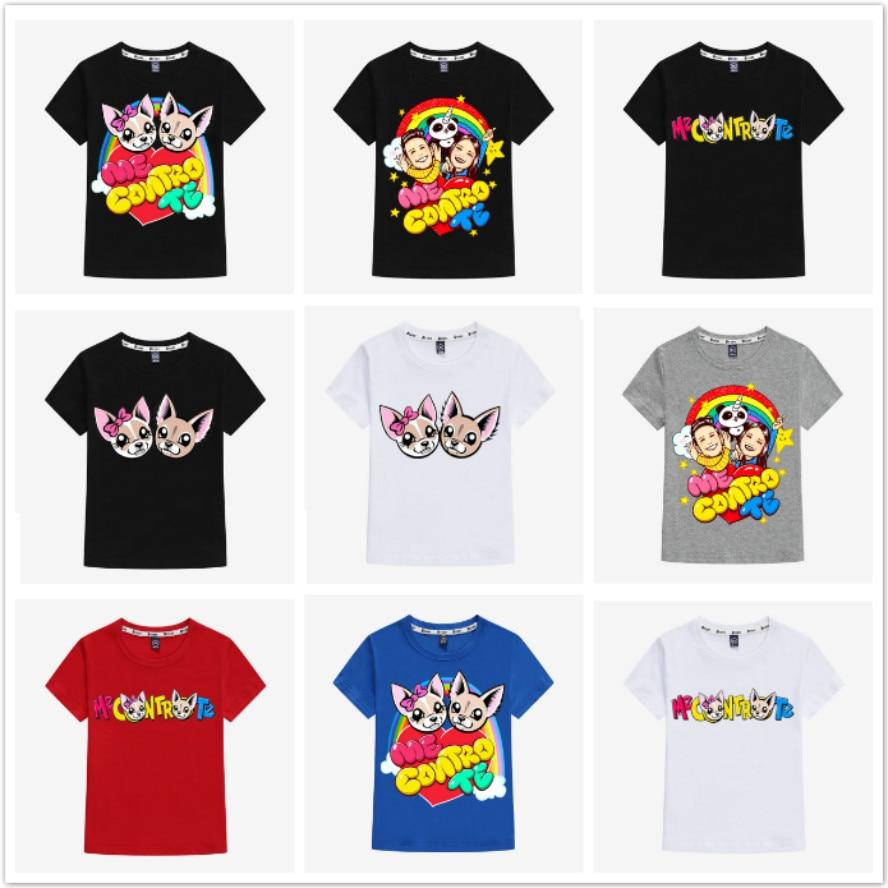 New Fashion Cotton Me Contro Te Baby Boys T-Shirts Children Kids Cartoon Print Short Sleeve T Shirts Girls Tops Clothing Tees