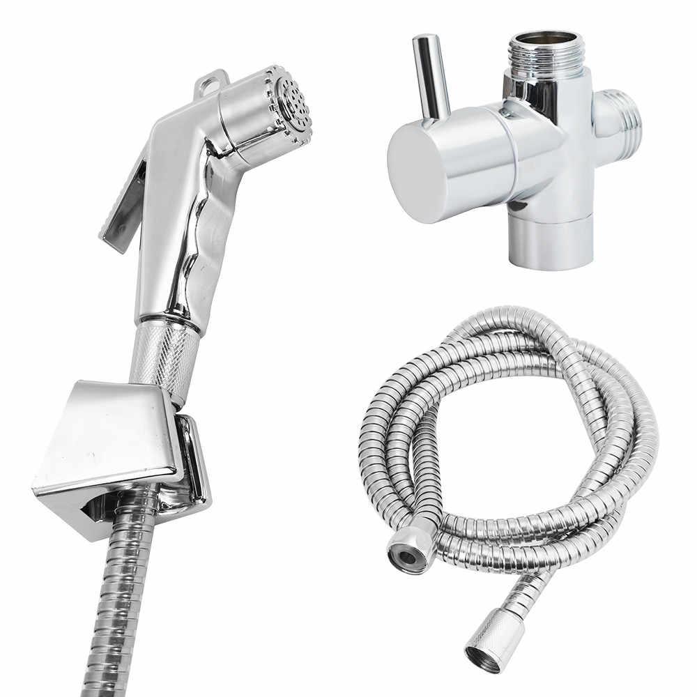 Hand Edelstahl Dusche Kopf Douche Wc Bidet Spray Waschen Jet Shattaf Umsteller Wasserhahn Für Bad Sprayer Dusche Kopf