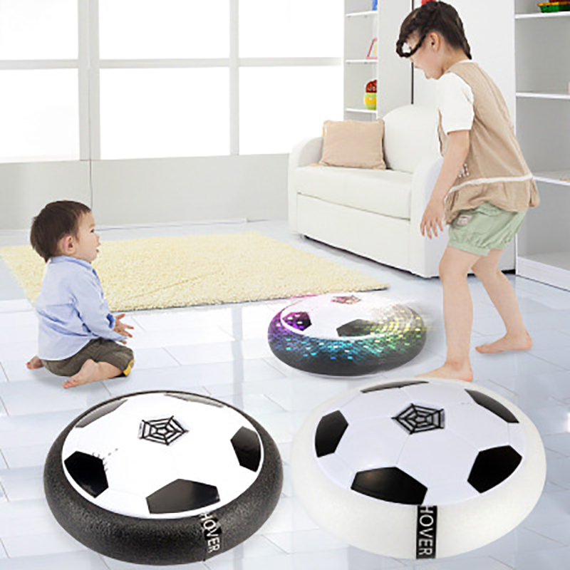 Kids Levitate Suspending Soccer Ball Air Cushion Floating Foam Football Light With Music Gliding Toys Soccer Toys Children Gift