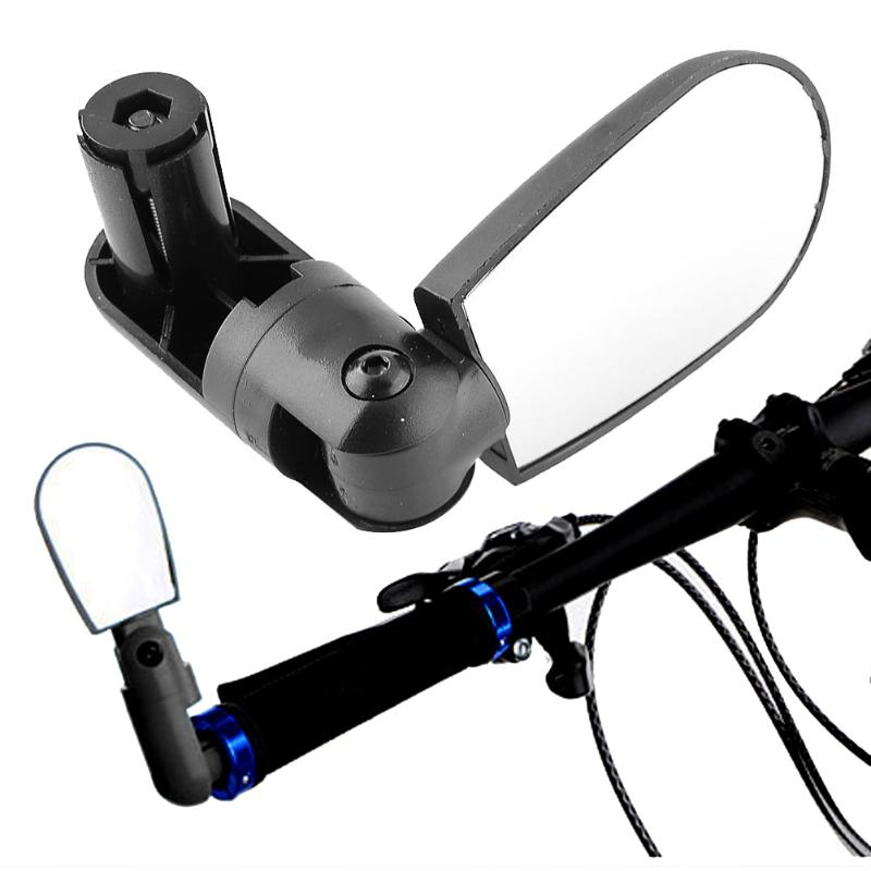 قابل للتعديل الدراجة مرآة الرؤية الخلفية s العالمي 360 تدوير الدراجات المقود زاوية واسعة مرآة الرؤية الخلفية دراجة اكسسوارات