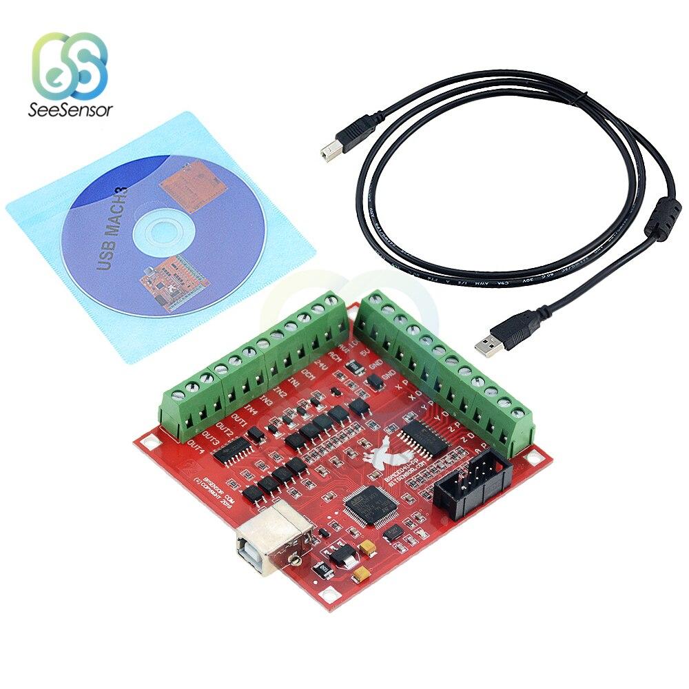 Breakout плата CNC USB MACH3 100 кГц 4-осевой интерфейс шаговый двигатель драйвер контроллер движения драйвер Модуль платы