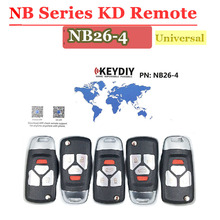 Hot (5 pcs/Lot)NB26 4 button kd900 remote 3 button NB series key Universal Multi function  for KD900 URG200 remote Master
