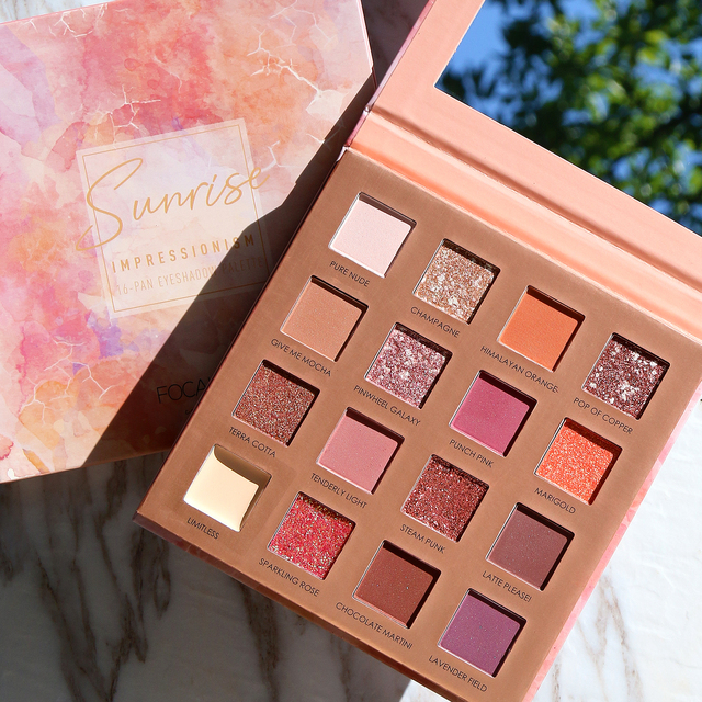 FOCALLURE New Sunrise Eye Shadow Palette Glitter Matte Pigment Eyeshadow Loose Powder Luxury Quality Eyeshadow 1