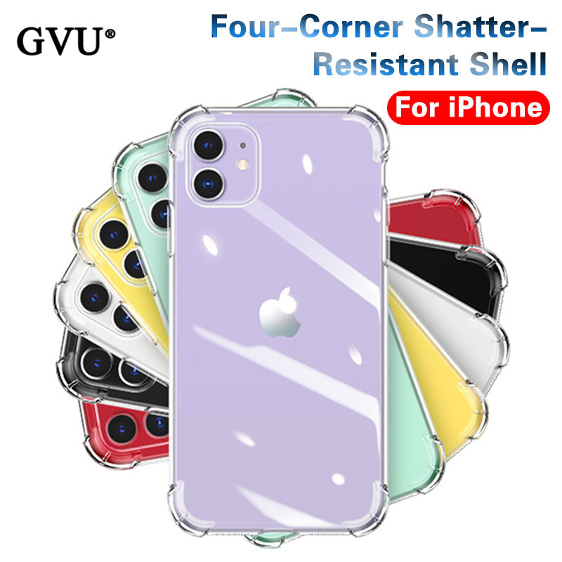 Phone-Cases Back-Cover Transparent-Protection Shockproof Silicone 8-Plus Luxury for 11 title=